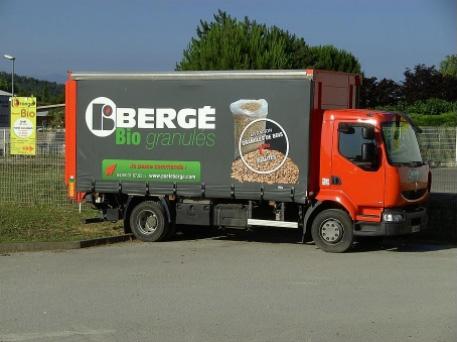 Bergé BIO Granulés - Camion de livraison